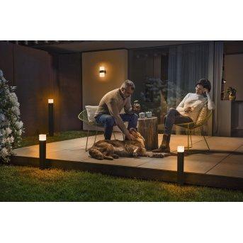 LEDVANCE CUBE Lampioncino Segnapasso Grigio, 1-Luce, Cambia colore