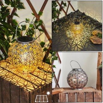Moreland Lampade solari LED Nero, Argento, Ramato, 1-Luce