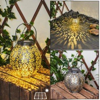 Moreland Lampade solari LED Nero, Argento, Oro, 1-Luce