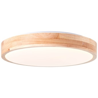 Brilliant Slimline Plafoniera LED Bianco, Legno chiaro, 1-Luce