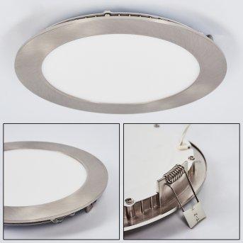 Finsrud Lampada da incasso LED Nichel opaco, 1-Luce