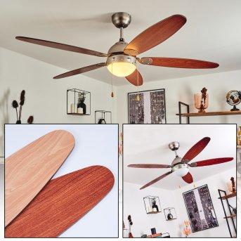 Gyllan ventilatore da soffitto Nichel opaco, 1-Luce