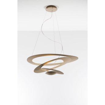 Artemide Pirce Mini Lampada a Sospensione LED Oro, 1-Luce