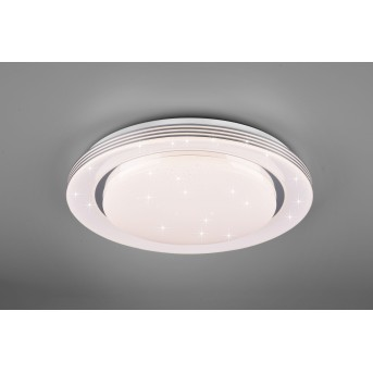Reality Atria Plafoniera LED Bianco, 1-Luce, Telecomando