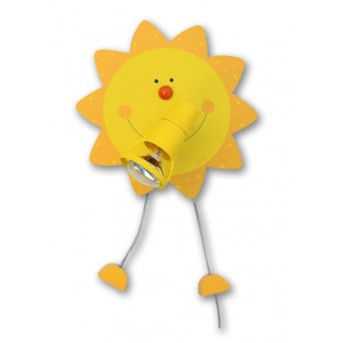 Waldi Sonne Applique Giallo, 1-Luce