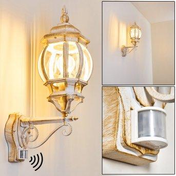 Lentua Applique da esterno Bianco, Oro, 1-Luce, Sensori di movimento