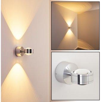 Indore Applique LED Alluminio, 2-Luci