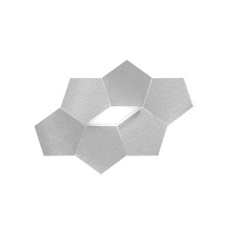 Grossmann Linde Applique LED Alluminio, 1-Luce