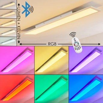 Voisines Plafoniera LED Bianco, 1-Luce, Telecomando, Cambia colore
