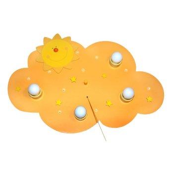 Waldi Sonne Plafoniera Giallo, 4-Luci