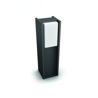 Philips Hue White Turaco Lampada con piedistallo Antracite, 1-Luce