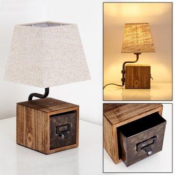 Banister Lampada da Tavolo Ruggine, Marrone, 1-Luce