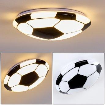 Sakka Plafoniera LED Nero, Bianco, 1-Luce