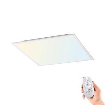 Leuchten-Direkt FLAT Plafoniera LED Bianco, 1-Luce, Telecomando