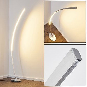 Antares Lampada da terra LED Cromo, 1-Luce