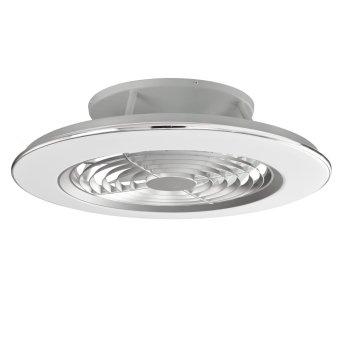 ventilatore da soffitto Mantra ALISIO LED Cromo, Grigio, 1-Luce, Telecomando