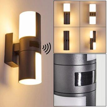 Applique da esterno Baulund LED Antracite, 1-Luce, Sensori di movimento