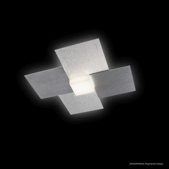 Grossmann CREO Applique e plafoniera LED Alluminio, 1-Luce