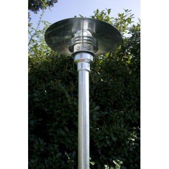 Nordlux Vejers Lampione Trasparente, chiaro, Zincato, 1-Luce