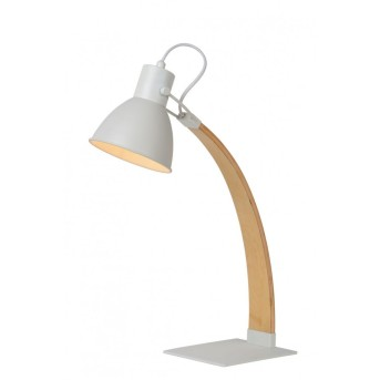 Lucide CURF Lampada da tavolo Bianco, 1-Luce