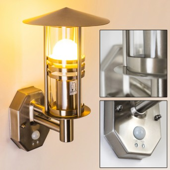 Forli Applique Acciaio inox, 1-Luce, Sensori di movimento