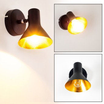 Mavas Applique Nero, 1-Luce