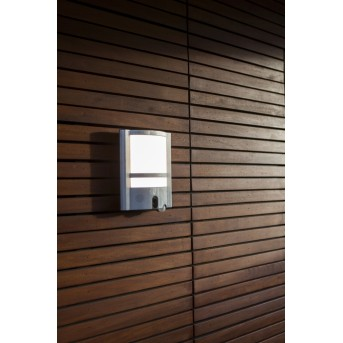 Applique da esterno Lutec VESTA CAM LED Acciaio inox, 1-Luce, Sensori di movimento