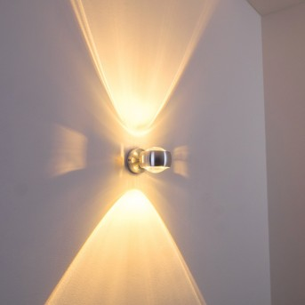 Sapri Applique Argento, 1-Luce