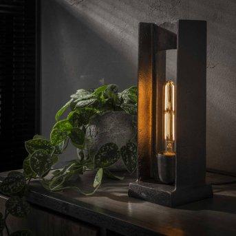 UGCHELEN Lampada da Tavolo Nichel opaco, Nero, 1-Luce