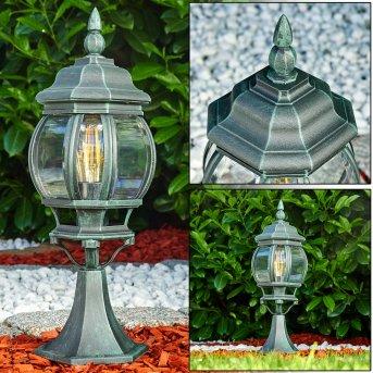 Lentua Lampada con piedistallo Nero, Verde, 1-Luce