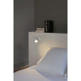 Faro Barcelona Orleans Applique Bianco, 1-Luce