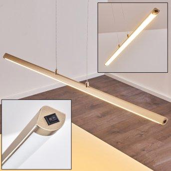 Wila Lampada a Sospensione LED Nichel opaco, 1-Luce
