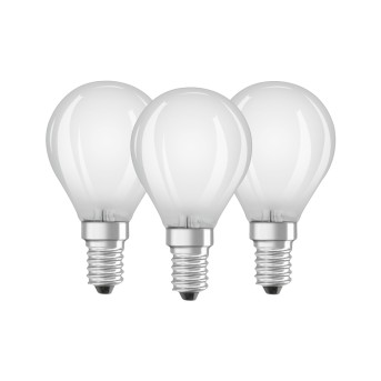 Osram LED E14 4,5 Watt 2700 Kelvin 470 Lumen Confenzione da 3