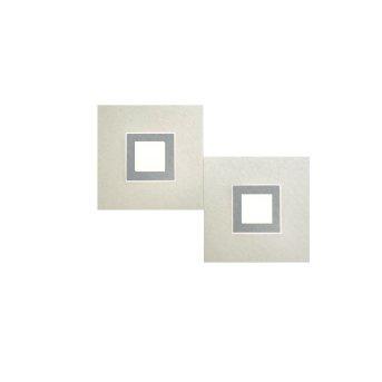 Grossmann Karree Applique LED Titanio, 2-Luci