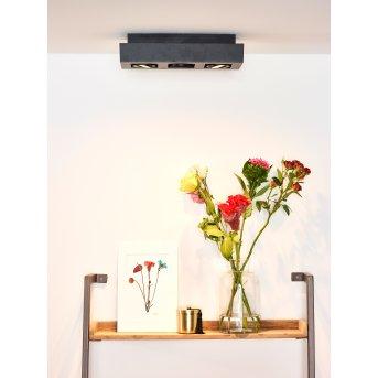 Faretto da soffitto Lucide XIRAX LED Nero, 3-Luci