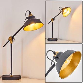 Luven Lampada da Tavolo Nero, 1-Luce, Telecomando