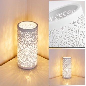 Aberjona Lampada da Tavolo Bianco, 1-Luce