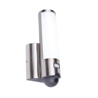 Applique da esterno Lutec ELARA CAM LED Acciaio inox, 1-Luce, Sensori di movimento