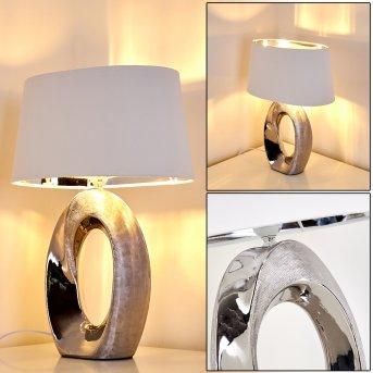 Rovio Lampada da Tavolo Argento, 1-Luce