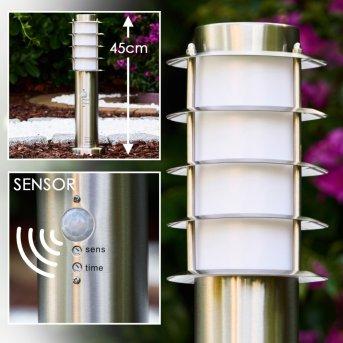 Tunes Lampada con piedistallo Acciaio inox, 1-Luce, Sensori di movimento