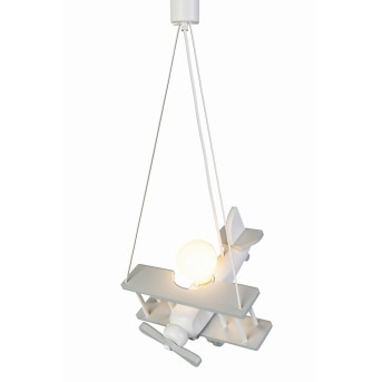 Waldi Flugzeug Lampada a Sospensione Grigio, Bianco, 1-Luce