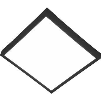 Nino-Leuchten PUCCY Plafoniera LED Nero, 1-Luce