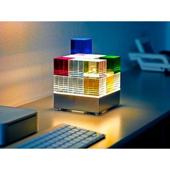 Tecnolumen Cubelight Lampada da tavolo LED Chiaro, Colorato, 1-Luce
