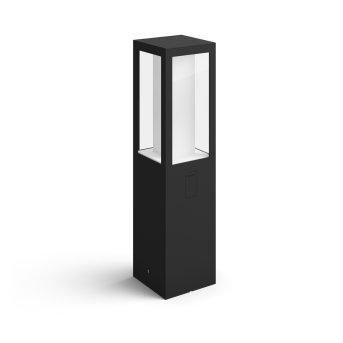 Philips Hue Ambiance White & Color Impress Lampada con piedistallo LED Nero, 1-Luce, Cambia colore