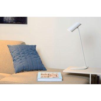 Lucide HESTER Lampada da scrivania Bianco, 1-Luce