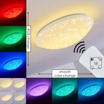 Brighton Star Plafoniera LED Bianco, 1-Luce, Telecomando, Cambia colore