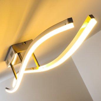 Atina Plafoniera LED Nichel opaco, 1-Luce