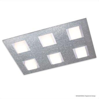 Grossmann BASIC Plafoniera LED Alluminio, 6-Luci