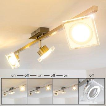 Kolari Faretto da soffitto LED Nichel opaco, Cromo, 3-Luci