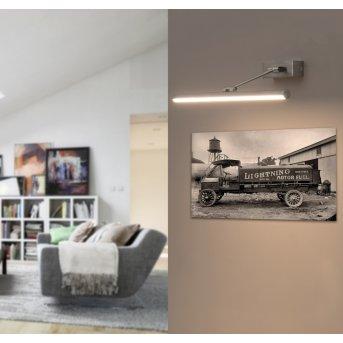 Faro Barcelona Magritte Applique LED Nichel opaco, 1-Luce